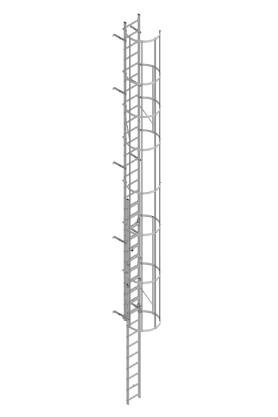 Fixed ladders at<br>structural systems
